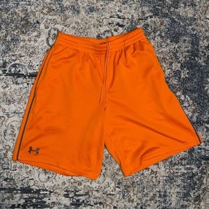 Under Armour Orange Basketball Gym Shorts